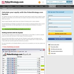 The PokerStrategy.com Equilab