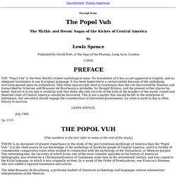 The Popul Vuh, by Lewis Spence