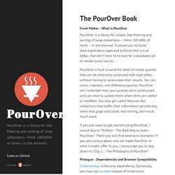 The PourOver Book · PourOver