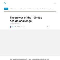 The power of the 100-day design challenge