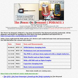 The Power On Demand ( POD ) project