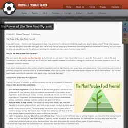 The Power of the New Food Pyramid