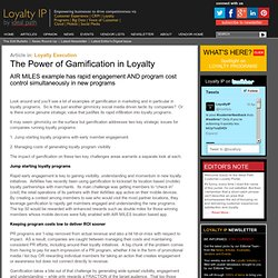 The Power of Gamification in Loyalty