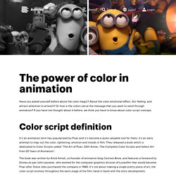 The power of color in animation