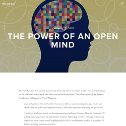The Power of an Open Mind — MI Oasis