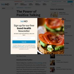 The Power of Positive Talking - WebMD