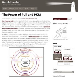 The Power of Pull and PKM