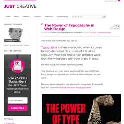 The Power of Typography in Web Design