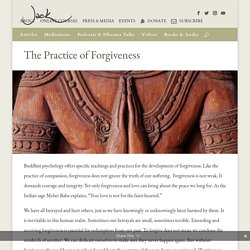 The Practice of Forgiveness