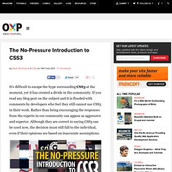 The No-Pressure Introduction to CSS3 | Onextrapixel - Web Design & Development Magazine