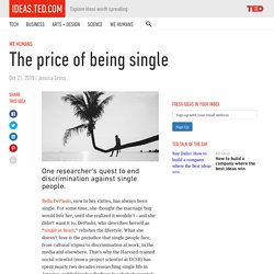 The price of being single