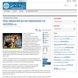 THE PRINCIPLES OF FREEDOM VS AGENDA 21