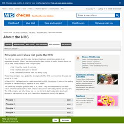 The principles and values of the NHS in England