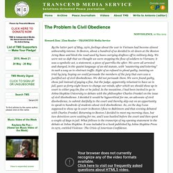The Problem Is Civil Obedience