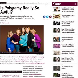 The problem with polygamy