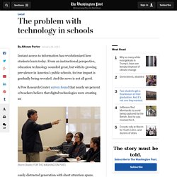 The problem with technology in schools
