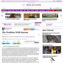 The Problem With Karma