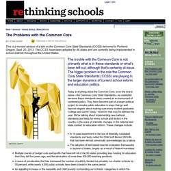 The Problems with the Common Core