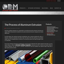 The Process of Aluminum Extrusion