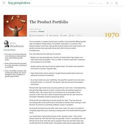 The Product Portfolio