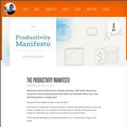The Productivity Manifesto
