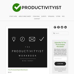 The Productivityist Workbook