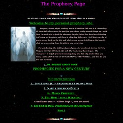 The Prophecy Page
