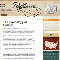The psychology of disaster