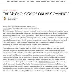 The Psychology of Online Comments