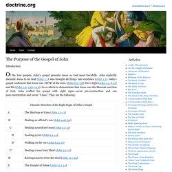 The Purpose of the Gospel of John