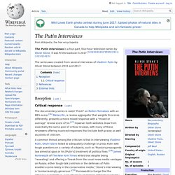 The Putin Interviews - Wikipedia