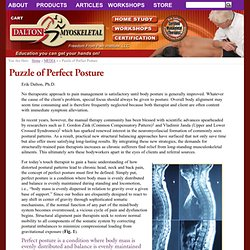 The Puzzle of Perfect Posture
