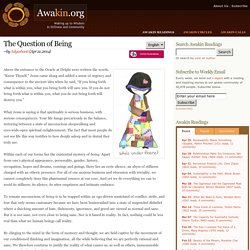 The Question of Being, by Adyashanti