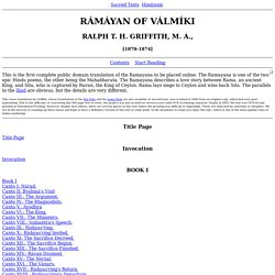 The Ramayana index