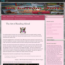 The Art of Reading Aloud