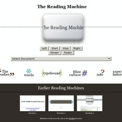 The Reading Machine