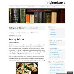 The reading rules | bigbookcase