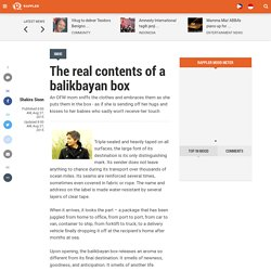 The real contents of a balikbayan box