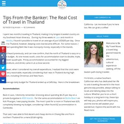 The Real Cost of Travel in Thailand