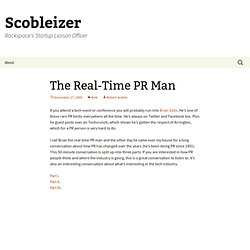 The Real-Time PR Man