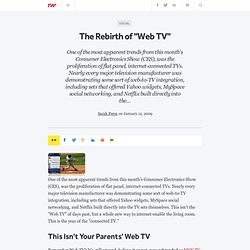 "The Rebirth of ""Web TV"" - ReadWriteWeb"
