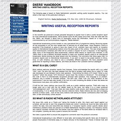 The Reception Report