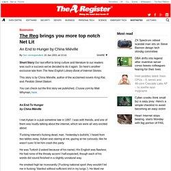 The Reg brings you more top notch Net Lit