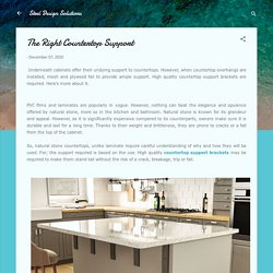 The Right Countertop Support