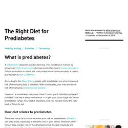 The Right Diet for Prediabetes
