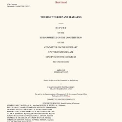 1982 Subcommittee