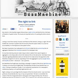 The right to link « BuzzMachine