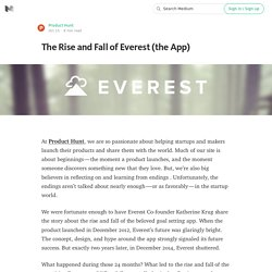 The Rise and Fall of Everest (the App)