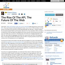 The Rise Of The API, The Future Of The Web