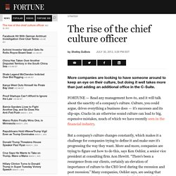 rise of the chief culture officer